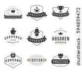 vintage logos design templates... | Shutterstock .eps vector #594859472