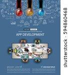 infograph brochure template... | Shutterstock . vector #594860468