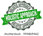 holistic approach. stamp.... | Shutterstock .eps vector #594869462