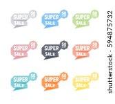 super sale  50  off vector... | Shutterstock .eps vector #594875732