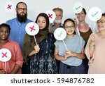 Small photo of Group of People Togetherness Opinion Concept