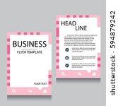 vector brochure flyer design... | Shutterstock .eps vector #594879242