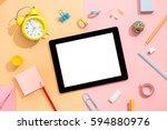 creative desktop.modern desgin  ... | Shutterstock . vector #594880976