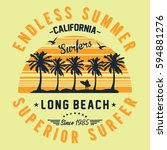 california long beach  superior ... | Shutterstock .eps vector #594881276