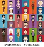 people avatar   with full body... | Shutterstock .eps vector #594885338