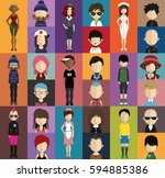 people avatar   with full body... | Shutterstock .eps vector #594885386