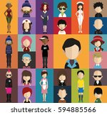 people avatar   with full body... | Shutterstock .eps vector #594885566