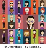 people avatar   with full body... | Shutterstock .eps vector #594885662
