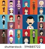 people avatar   with full body... | Shutterstock .eps vector #594885722