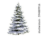 isolated snow covered christmas ...   Shutterstock . vector #594889916