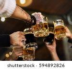 craft beer booze brew alcohol...   Shutterstock . vector #594892826