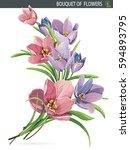Elegant Beautiful Bouquet Of...
