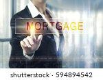 business women touching the...   Shutterstock . vector #594894542