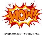 comic speech banner with...   Shutterstock .eps vector #594894758