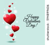 happy valentines day card  | Shutterstock . vector #594899606