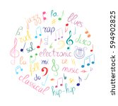 colorful hand drawn set of ... | Shutterstock .eps vector #594902825