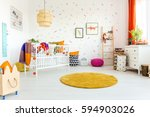 white spacious room designed... | Shutterstock . vector #594903026