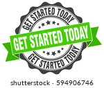 get started today. stamp.... | Shutterstock .eps vector #594906746