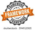 framework. stamp. sticker. seal.... | Shutterstock .eps vector #594913505