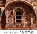 detail view of a window with... | Shutterstock . vector #594927842