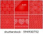 set of vector square... | Shutterstock .eps vector #594930752