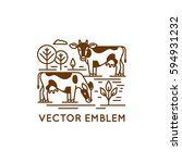 vector logo design template in... | Shutterstock .eps vector #594931232