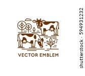vector logo design template in... | Shutterstock .eps vector #594931232