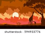 illustration of the african... | Shutterstock . vector #594933776