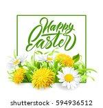 easter poster. vector... | Shutterstock .eps vector #594936512