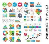 business charts. growth graph.... | Shutterstock . vector #594939515