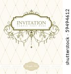 invitation card | Shutterstock .eps vector #59494612