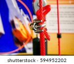 clamp anchor rope  metal   Shutterstock . vector #594952202