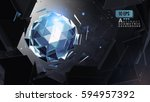 polygonal abstract triangle... | Shutterstock .eps vector #594957392
