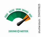 drunk o meter  17 march saint... | Shutterstock .eps vector #594959825