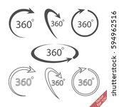 360 degree vector icon    Shutterstock .eps vector #594962516