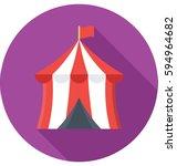 circus tent vector icon   Shutterstock .eps vector #594964682