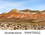 Coloured Rock Mountains. Hill...
