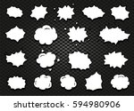 isolated abstract black and... | Shutterstock .eps vector #594980906