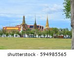 sanam luang and the grand... | Shutterstock . vector #594985565