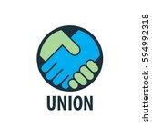 logo design template handshake. ...   Shutterstock .eps vector #594992318
