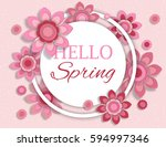 spring background banner with... | Shutterstock .eps vector #594997346
