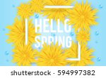 spring background banner with... | Shutterstock .eps vector #594997382