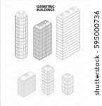 vector isometric buildings set. ...