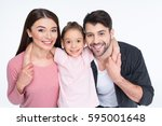 happy young family with one...   Shutterstock . vector #595001648