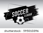 vector of soccer league with... | Shutterstock .eps vector #595010396