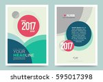 vector cover design template... | Shutterstock .eps vector #595017398