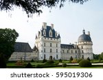 valen  ay castle  loire valley  ... | Shutterstock . vector #595019306