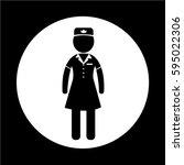 air hostess icon   Shutterstock .eps vector #595022306