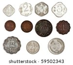 Antique Indian Coins - stock photo