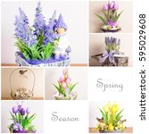 collage from the pictures of... | Shutterstock . vector #595029608